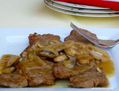 New York Strip With Mushroom Gravy And Caramelized Onions
