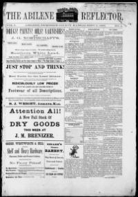 DICKINSON COUNTY - Abilene, Kansas - 1883-1888 - The Abilene reflector « Chronicling America « Library of Congress