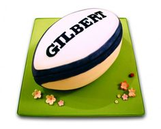 Gilbert Rugby Ball Cake - Heather's Cakes