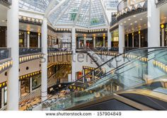 BERLIN, GERMANY - JULY 24: Luxurious art deco style shopping mall near the Friedrichstrasse in the center of Berlin on July 24, 2013 in Berlin, Germany