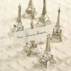 Eiffel Tower Wedding Favors Place Card Holders I Favor Couture Eiffeltower