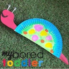 Rainbow Paper Plate Snail Easy Toddler Crafts, Toddler Activities, Easy Crafts, Crafts For 2 Year Olds, 3 Year Olds, Rainbow Paper, Paper Plates, Snail, Outdoor Blanket