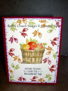 Bobbiestamps.com: Basket of Wishes stamp set; stampin up