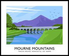 Mourne Mountains art print.