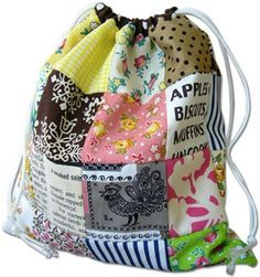 "several tutorials for easy drawstring bags - nice to ""wrap"" gifts in"