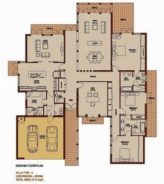 3 Bedroom 3772 sq ft - Saheel - Arabian Ranches - Dubai Floor Plans