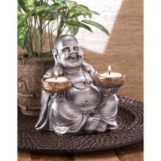 ON SALE!! Sitting Buddha Candleholder. World Market~Time And Place Gifts.