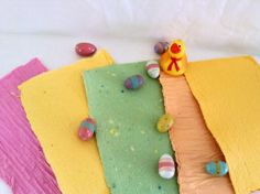 Handmade paper  pastel recycled paper  acid free by TheWhatNaught, $5.75