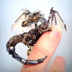 This dragon is made from old watch parts #mechanical #steampunk
