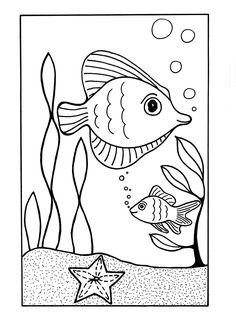 schöne unterwasserwelt ausmalbilder | malvorlagen tiere, lustige malvorlagen, muster malvorlagen
