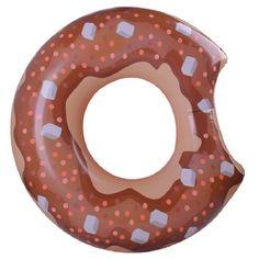 Gonflable Donut 90 cm Piscine Flotteur De Natation Anneaux Gonflable Radeau Brun De Natation Tours L'école Coups de Pied D'été Plage De L'eau de Sport