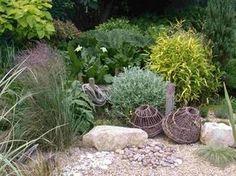 Cool mediterraner Garten filziges Hornkraut Bodendecker Bambus Gr ser