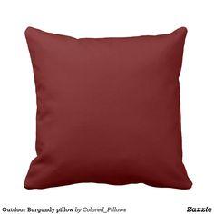 Outdoor Burgundy pillow
