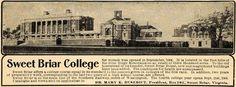 Vintage Sweet Briar ad. Framed. On wall beside diploma.