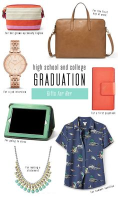 #Fossil Grad Gifts for Her because I really do want fossil for graduation...perfect!!