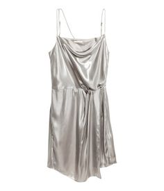 Vestido metalizado brillante   Plateado   Mujer   H&M MX