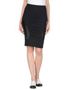 MCQ ALEXANDER MCQUEEN Knee Length Skirt. #mcqalexandermcqueen #cloth #dress #top #skirt #pant #coat #jacket #jecket #beachwear #
