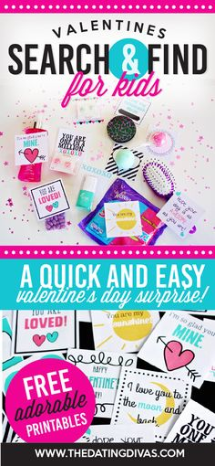 A fun Valentine's Day hunt for the kids. Free printables from The Dating Divas! #vday #forkids #freeprintables