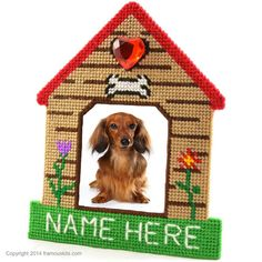 Plastic Canvas pattern ONLY to make KENNEL CLUB by FramousKits