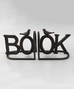 Loving this Bronze 'Book' Bookend Set on #zulily! #zulilyfinds