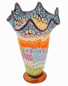 Fun Colors..great accessory for #teenage #girls' #bedrooms. Home / Vases / Murano Glass Vase EEX13
