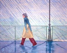David Hockney - Yves Marie in the Rain (1973)