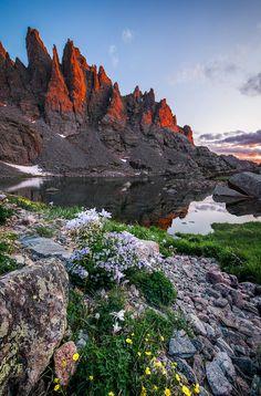Sky Pond, Rocky Mountain National Park. Sunrise. July, 2013