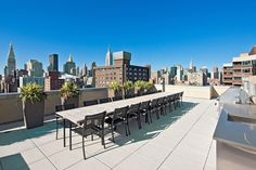 Rooftop of 300 East 23rd Street #outdoorspace #terrace #relaxing #NYC #views #homedecor