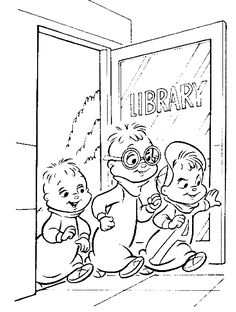 alvin chipmunks halloween coloring pages - photo#43