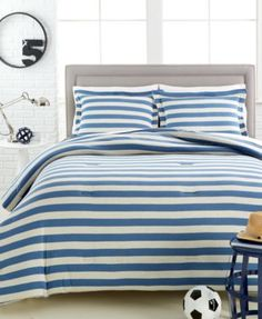 CLOSEOUT! Anderson 3-Pc. Jersey Comforter Sets | macys.com