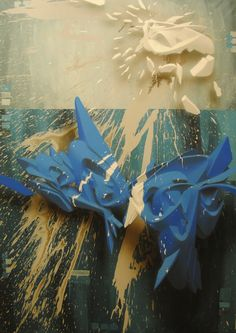 3D Graffiti Paintings by Manuel Di Rita