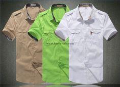 Burberry Men M-3XL Shirt 2014-2015 BTS279(3 colors)