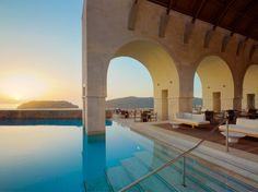 The Blue Palace, Crete, Greece. Gorgeous Hotel inside and out and perfect for your honeymoon!