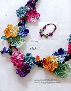 gehaakte korte bloemenketting