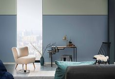 Denim Drift is Dulux Colour of the Year 2017 - The LuxPad - The Latest Luxury Home Fashion News - Amara Interior Wall Colors, Colorful Interior Design, Gray Interior, Interior Design Tips, Interior Walls, Colorful Interiors, Denim Drift, Color Of The Year 2017, Design Salon