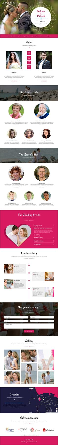 #Wedding #invitation is an elegant and modern design responsive HTML bootstrap template for #webdev young couples who are looking for something different then standard online invitation cards websites download now➩ https://themeforest.net/item/wedding-invitation-responsive-html-template/19158839?ref=Datasata