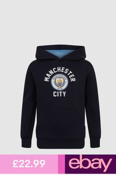 Man City Fleece Robe Kids Youth Dressing Gown New Sky Blue