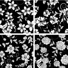 classic_traditional_black_and_white_pattern_03_vector_151684.jpg (422×425)