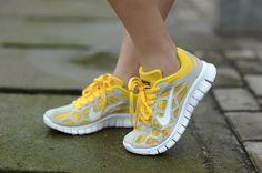 Mujer Free Run 3 Respirable Amarillo