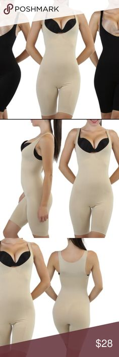 a6858ec360 Full Leg Body Shaper Women s High-Compression Body Shaper Suit  -Slims and  shapes the body while remaining comfortable -Enhances hourglass curves and  hides ...