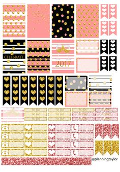 New Years Planner Stickers