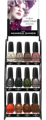 The Hunger Games nail polish collection from China Glaze.  I want them all.