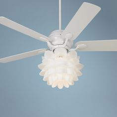 20 best ceiling fans for girls room images on pinterest ceiling 52 casa optima flower light kit white ceiling fan lampsplus aloadofball Image collections