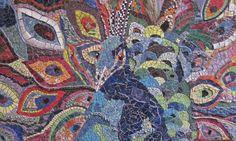 struttin peacock mosaic art