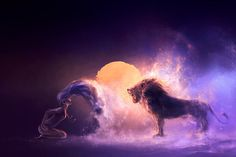 Beautiful Otherworldly Artwork Of Cyril Rolando Zodiac Art, Leo Zodiac, Zodiac Signs, Astrology Leo, Libra Traits, Leo Horoscope, Libra Capricorn, Moon In Leo, New Moon