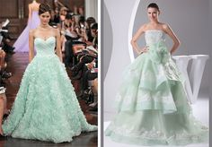 mint green wedding dresses UK