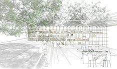 「開封のモリ」竹中 美穂 TAKENAKA Miho – 早稲田大学 芸術学校 Architecture Sketchbook, Architecture Plan, Landscape Architecture, Landscape Design Plans, Interior Sketch, Urban Farming, School Design, Presentation, Google