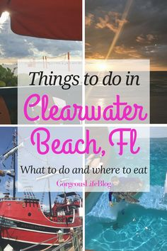Things to do, places to eat, family friendly things to do in Clearwater beach Beach Vacation Tips, Family Vacation Spots, Best Family Vacations, Florida Vacation, Vacation Outfits, Beach Trip, Vacation Ideas, Beach Vacations, Vacation Packing