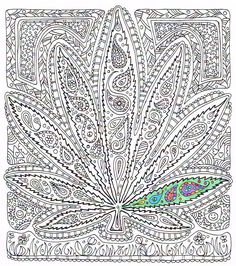 adult coloring page got leaf printable pot leaf coloring page for adults to print and color