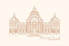 Bucharest, Cool Drawings, Taj Mahal, Album, Building, Illustration, Travel, Voyage, Buildings